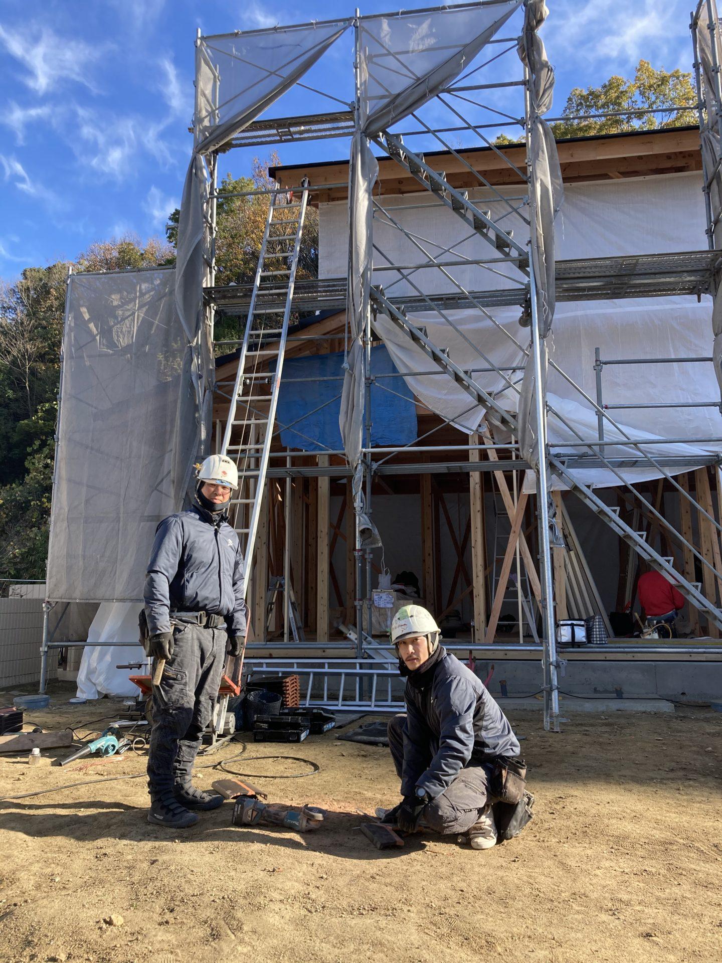 福山市自然素材健康住宅 屋根職人